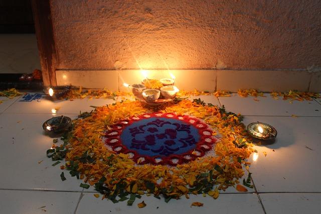 oltář, svíčky