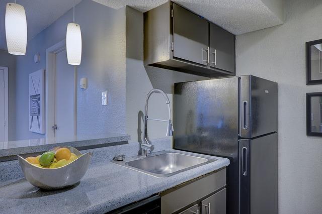 kuchyně, ovoce, lednice