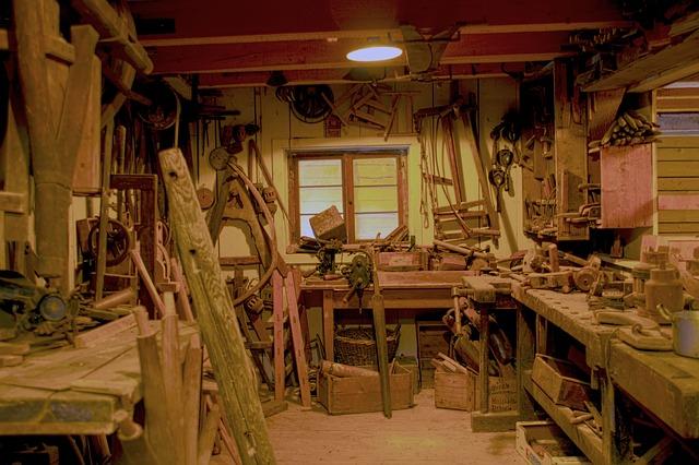 dílna, dřevěné nářadí