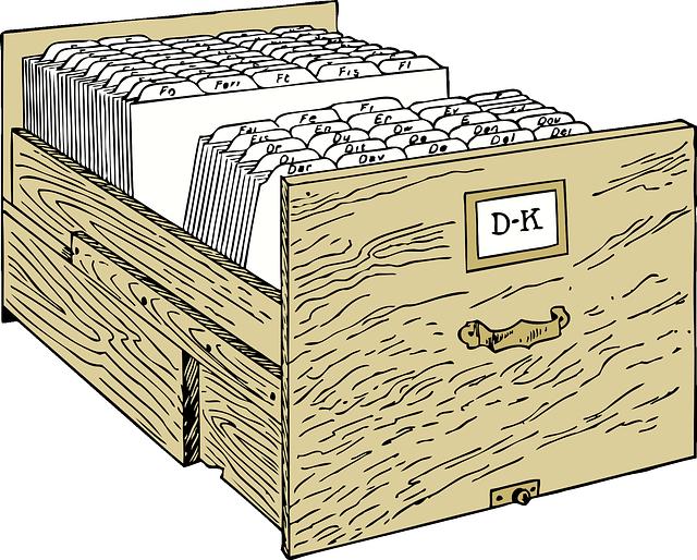 dřevený šuplík karotéky