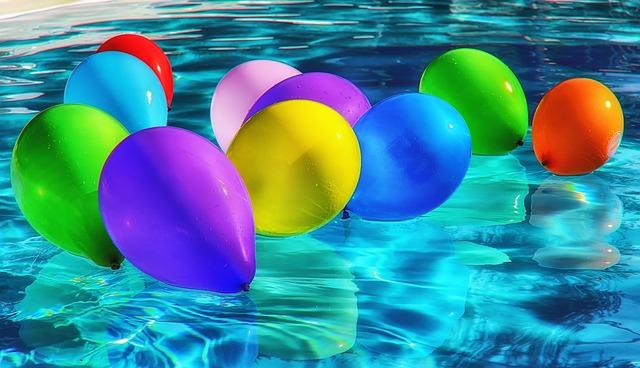 balonky na vodě