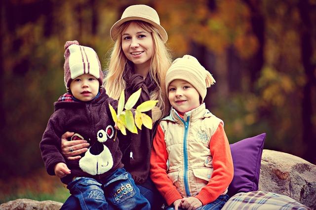 máma s dětmi
