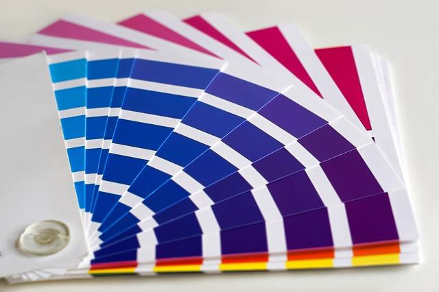 vzorník barev – odstíny modré