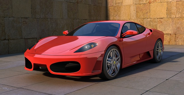 Kresba luxusního vozu Ferrari