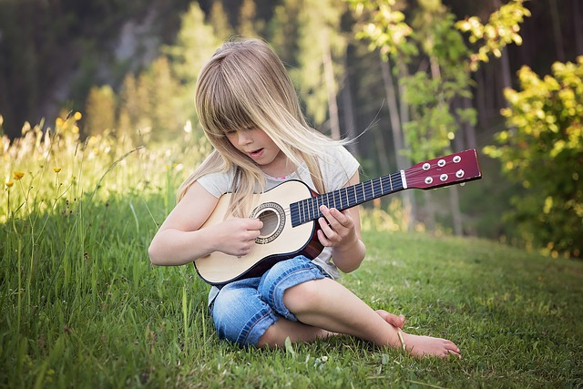 malá kytaristka