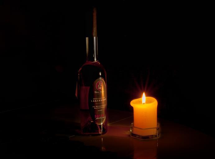 láhev se svíčkou – romantika