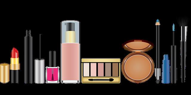 make-up a štětce na rovině