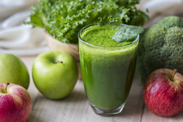 zelený drink
