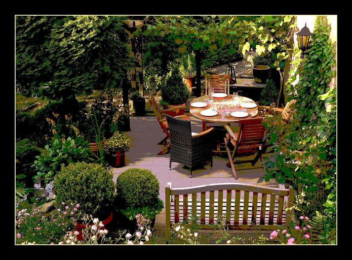zákoutí pro odpočinek na zahradě
